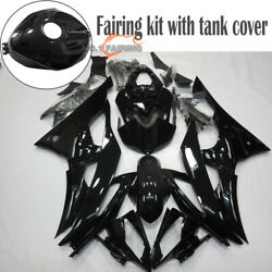 Full Glossy Black Abs Fairing Kit And Tank Cowl For Yamaha 2008-2016 Yzf R6 Frame