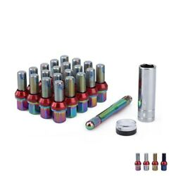 20pc Extended Alloy M14x1.25 Lug Bolts Wheel Bolts 38mm Hex 19mm Cone Seat W/key