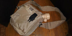 2 Qt Collapsible Water Canteen W/ Cover And Sling Desert Tan Us Army Military