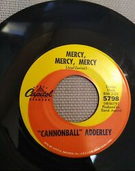 Cannonball Adderley Games / Mercy Mercy Mercy 7 - 45 Rpm Capital Records