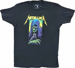 Men#x27;s Metallica Black Vintage Death Reaper Rock N Roll 80s 90s T Shirt Tee New