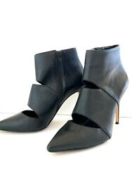 Dune London Black Heel Cut-out Sexy Booties