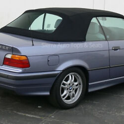 Bmw 3-series Convertible Top 94-99 Black Sun-fast Cloth With Plastic Window