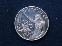 1979 Italy Silver Proof Medal Humanity Rotary International 70th Convention Roma