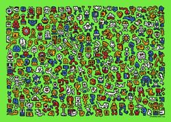 Mr Doodle Alien Town Street Art Silk Print Poster Signed Numbered Limited /300