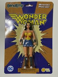 New Ip Wonder Woman Bend-ems Dc Bendable Poseable 5.5 Action Figure Sunny Days
