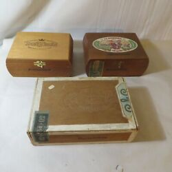 Lot Of 3 Vintage Cigar Boxes Rockefellers And 2 Rothchilds
