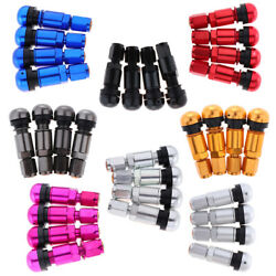 4pcs Snap-in Tubeless Tyre Wheel Stem Air Valve Caps Car Tire Valve With Dust