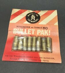 1 Package Mattel Winchester And Fanner 50 Bullet Pak Metal Play Bullets Nos