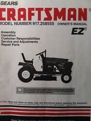 Sears Craftsman 15.0 Hp 42 Hydro Lawn Tractor 917.258555 Owner And Parts Manual