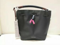 New Authentic Paul Smith#x27;s Women Leather Mini Bucket Bag Black $39.99