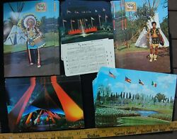 [1960s Six Flags Over Texas - Huge Lot Of 219 Post Cards Vintage Amusement Park]