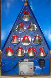 Vintage Mr Christmas 10 Musical Lighted Silver Bells Of Christmas 15 Songs 1990