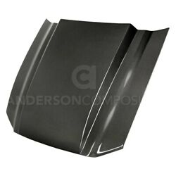 For Ford Mustang 13-14 Anderson Composites Type-cj Style Gloss Carbon Fiber Hood