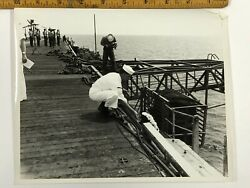 Nc_001 8x10 Photos And Letters Of A Vietnam Era Burial At Sea 1968 Set Of 14
