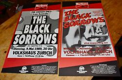 The Black Sorrows Swiss Concert Posters 1989 And 1990 Nice