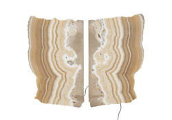 32 L Stone Sconce Butterfly Lamp Onyx Stone One Of A Kind Freeform Modern