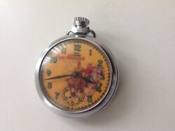 Vintage 1960's Smiths Lone Ranger Andtonto Pocket Watch Rare