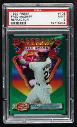 1993 Topps Finest Refractor Fred Mcgriff 106 Psa 9