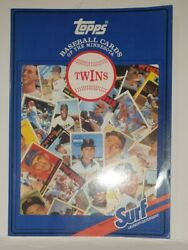 Topps Baseball Cards The Minnesota Twins Book 1987 Signed By Bob Casey Team Pa