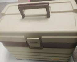 Vintage Plano 757 Tackle Box W/top Storage And 4 Drawer Fishing/ Scraping Box