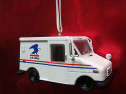 New Usps Postal Mail Delivery Truck Christmas Tree Ornament