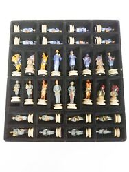 Civil War Chess Set By The Chessman 5126 Pieces With Board.
