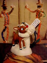 Rudolphand039s Red Nose I Would Even Say It Glowsandrdquo Dept 56 Snowbabies Ornament Set