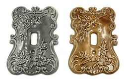 Vintage Set Of 2 Holland Mold 6.25 Ceramic Single Light Switch Plate Covers