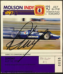 1993 Race Day Pit Pass Molson Indy 500 Autographed Winner Signed Paul Tracy