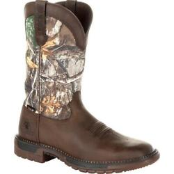 Rocky Original Ride Flx Western Menand039s Brown Realtree Camo Boots Rkw0253