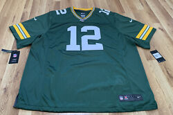 New Nike Green Bay Packers Aaron Rodgers Vapor Limited Jersey 100 Logo Sz 3xl