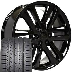 22x9 Wheel And Tire Fits Ford Trucks F150 Style Black Rims W/gy Tires 3918 Cp
