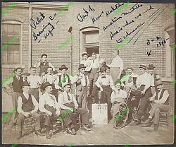 Rare Photo 1895 Pabst Brewing Company Depot Minstrel Group Milwaukee Wi Bicycle
