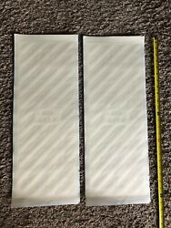 No Step Aircraft Wings Pair Of White Decals 23x9 Cessna Piper Machine Free Ship