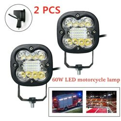 60w Motorcycle/offroad Motorbike Square Led Front Spot Light Headlight Fog Lamp