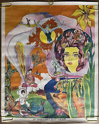 Vintage Poster Sgt. Pepper's Lonely Hearts Club Band 1960s Lucy In The Sky Lsd