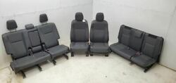2014-2016 Toyota Highlander Seats Front Rear Leather And Cloth Seat Set