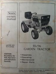Sears Suburban Ss/16 Lawn Garden Tractor Owner And Parts Manual 917.25752 Onan Bf
