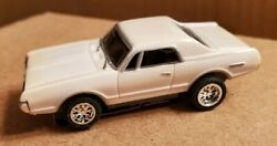 68 Couger White, Ho Scale Slot Car, New Chrome Rims And Tires
