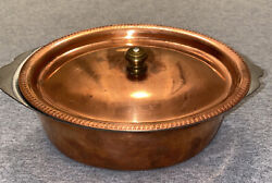 Legion Utensils Vintage Oval Copper And Stainless Steel Casserole Dish 5 64