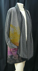 Art Of Cloth Duster Open Jacket Shrug Shaby Chic Boho Hippie Top Multi New M L