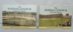 Two 1990 The Baseball Stadium Postcard Albums Volumes Containing 62 Postcards