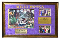 Framed 32 X 22 Willy Wonka Collage Autographed Signed By Five + Bonuses