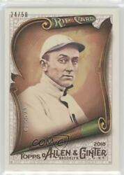 2018 Topps Allen And Ginter's Rip Cards Ripped /50 Ty Cobb Rip-39 Hof
