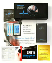 Hidow Tens Xpd12 Sports Therapy Pain Relief Unit With Foot Massager And Extra Pads