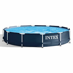 Intex 28211st 12and039 X 30 Metal Frame Round Above Ground Swimming Pool With Pump