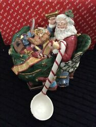 Fitz And Floyd Santa's List Tureen With Ladle Beautiful Christmas Piece New