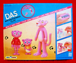 Mib Pink Panther And Sons Das Italy Clay Figure Figurine Toy Set Nos Vintage