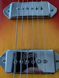 1970and039s Gibson Embossed P-90 Dog Ear Pickup Covers Only. P90